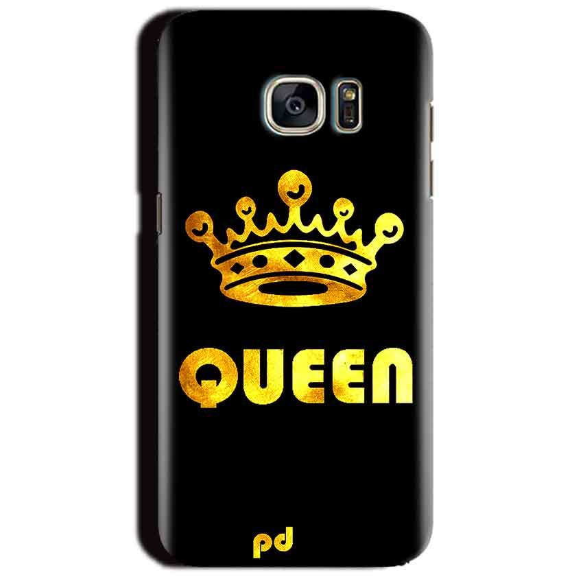 Samsung Galaxy S7 Edge Mobile Covers Cases Queen With Crown in gold - Lowest Price - Paybydaddy.com
