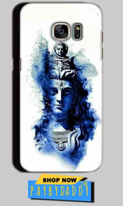 Samsung Galaxy S7 Edge Mobile Covers Cases Shiva Blue White - Lowest Price - Paybydaddy.com