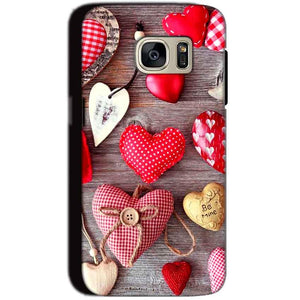 Samsung Galaxy S7 Mobile Covers Cases Hearts- Lowest Price - Paybydaddy.com