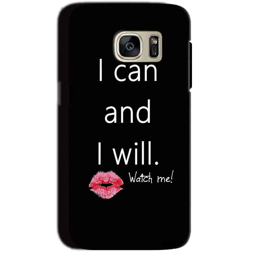 Samsung Galaxy S7 Mobile Covers Cases i can and i will Lips - Lowest Price - Paybydaddy.com