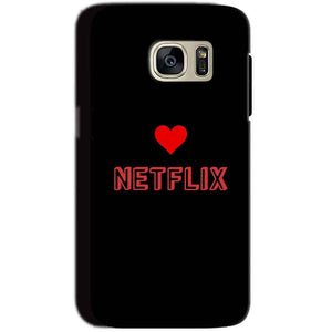 Samsung Galaxy S7 Mobile Covers Cases NETFLIX WITH HEART - Lowest Price - Paybydaddy.com
