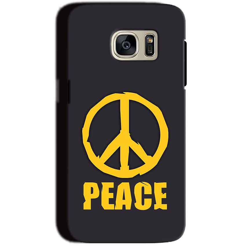Samsung Galaxy S7 Mobile Covers Cases Peace Blue Yellow - Lowest Price - Paybydaddy.com