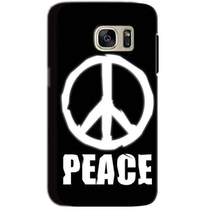 Samsung Galaxy S7 Mobile Covers Cases Peace Sign In White - Lowest Price - Paybydaddy.com