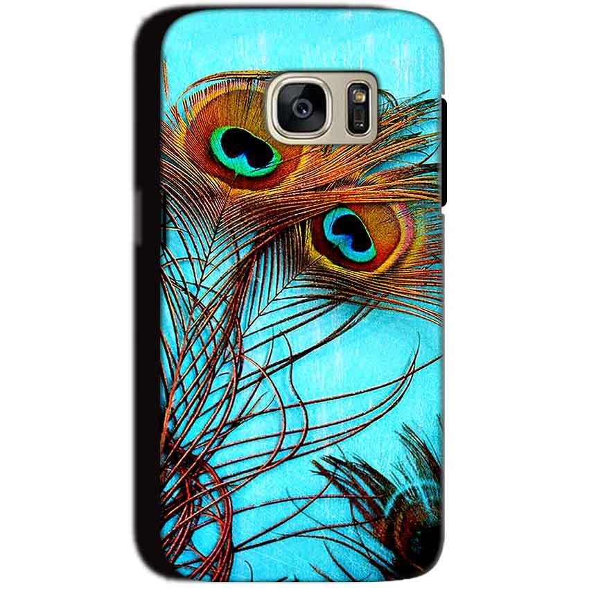 Samsung Galaxy S7 Mobile Covers Cases Peacock blue wings - Lowest Price - Paybydaddy.com