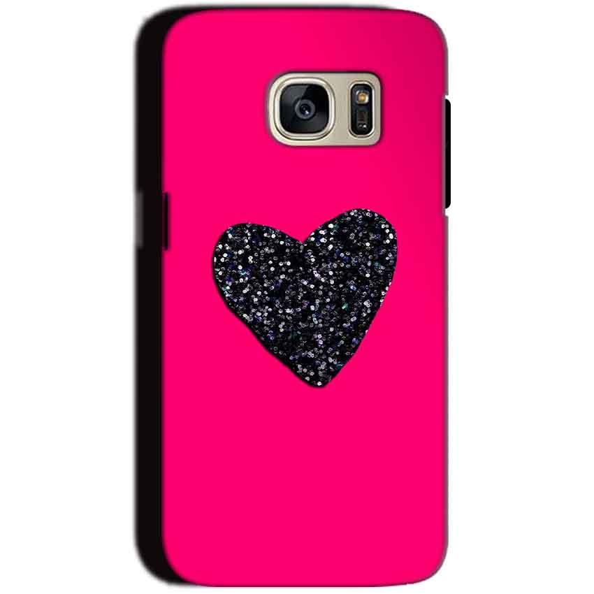 Samsung Galaxy S7 Mobile Covers Cases Pink Glitter Heart - Lowest Price - Paybydaddy.com