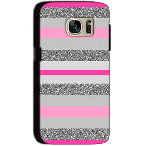 Samsung Galaxy S7 Mobile Covers Cases Pink colour pattern - Lowest Price - Paybydaddy.com