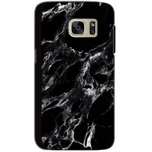 Samsung Galaxy S7 Mobile Covers Cases Pure Black Marble Texture - Lowest Price - Paybydaddy.com