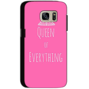 Samsung Galaxy S7 Mobile Covers Cases Queen Of Everything Pink White - Lowest Price - Paybydaddy.com
