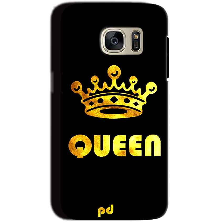 Samsung Galaxy S7 Mobile Covers Cases Queen With Crown in gold - Lowest Price - Paybydaddy.com