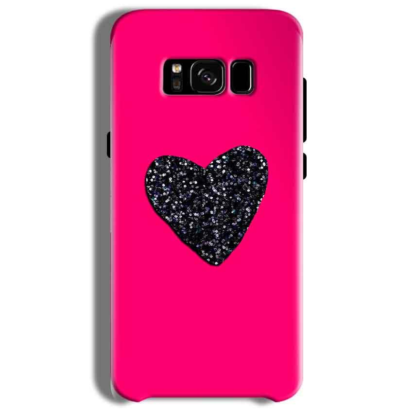 Samsung Galaxy S8 Mobile Covers Cases Pink Glitter Heart - Lowest Price - Paybydaddy.com
