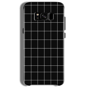 Samsung Galaxy S8 Plus Mobile Covers Cases Black with White Checks - Lowest Price - Paybydaddy.com