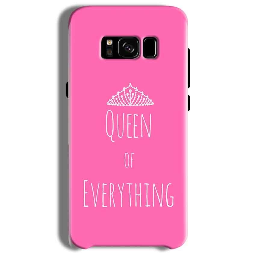 Samsung Galaxy S8 Mobile Covers Cases Queen Of Everything Pink White - Lowest Price - Paybydaddy.com