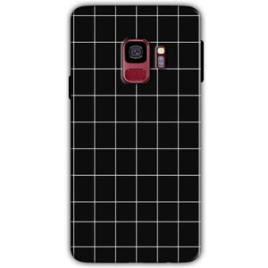Samsung Galaxy S9 Mobile Covers Cases Black with White Checks - Lowest Price - Paybydaddy.com