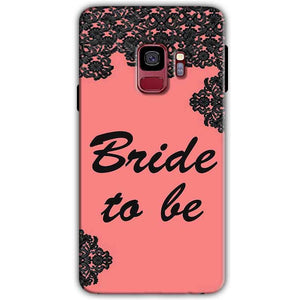 Samsung Galaxy S9 Mobile Covers Cases Mobile Covers Cases bride to be with ring Black Pink - Lowest Price - Paybydaddy.com