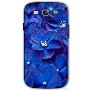 Samsung I9300 Galaxy S3 Samsung S3 Mobile Covers Cases Blue flower - Lowest Price - Paybydaddy.com