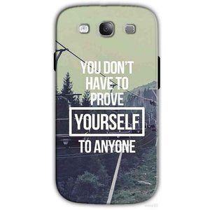Samsung I9300 Galaxy S3 Samsung S3 Mobile Covers Cases Donot Prove yourself - Lowest Price - Paybydaddy.com