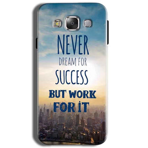 Samsung J2 2015 Mobile Covers Cases Never Dreams For Success But Work For It Quote - Lowest Price - Paybydaddy.com