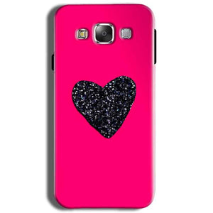 Samsung J2 2015 Mobile Covers Cases Pink Glitter Heart - Lowest Price - Paybydaddy.com