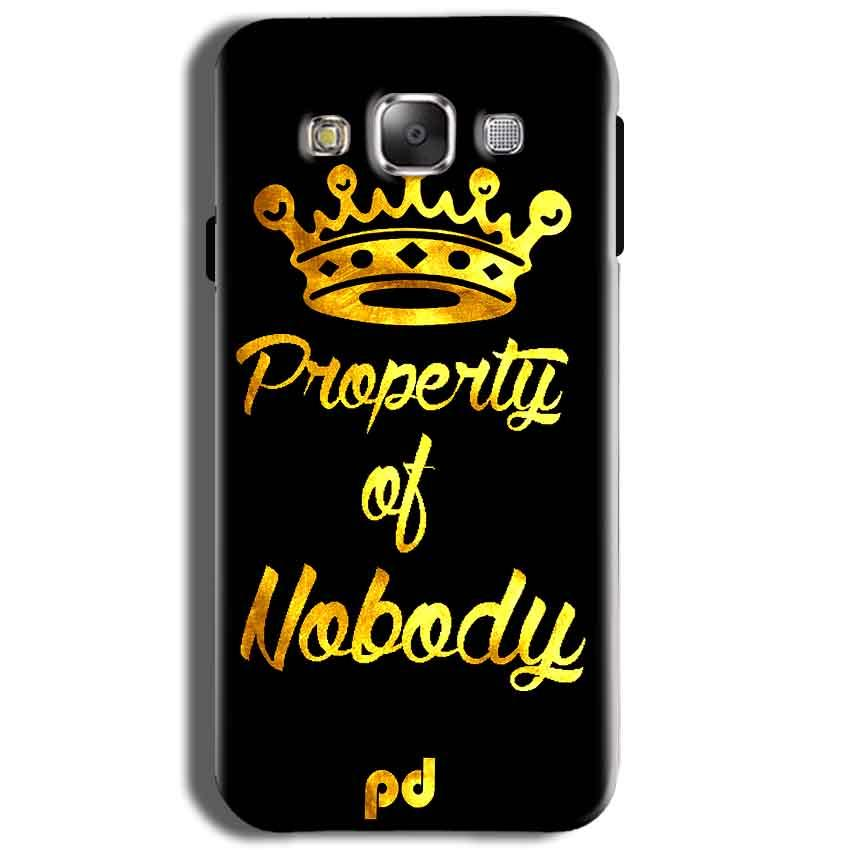 Samsung J2 2015 Mobile Covers Cases Property of nobody with Crown - Lowest Price - Paybydaddy.com