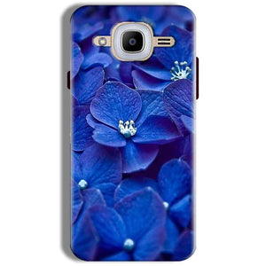 Samsung J2 2016 Mobile Covers Cases Blue flower - Lowest Price - Paybydaddy.com