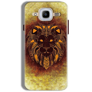 Samsung J2 2016 Mobile Covers Cases Lion face art - Lowest Price - Paybydaddy.com