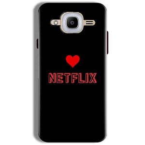 Samsung J2 2016 Mobile Covers Cases NETFLIX WITH HEART - Lowest Price - Paybydaddy.com