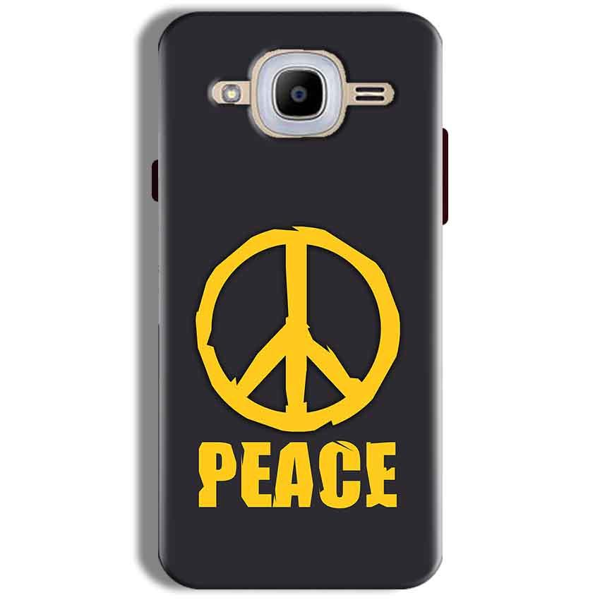 Samsung J2 2016 Mobile Covers Cases Peace Blue Yellow - Lowest Price - Paybydaddy.com