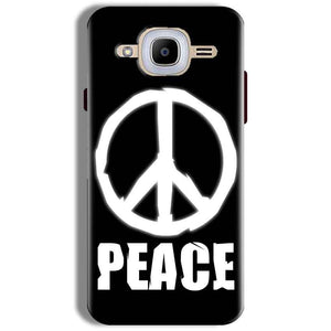 Samsung J2 2016 Mobile Covers Cases Peace Sign In White - Lowest Price - Paybydaddy.com