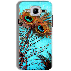 Samsung J2 2016 Mobile Covers Cases Peacock blue wings - Lowest Price - Paybydaddy.com