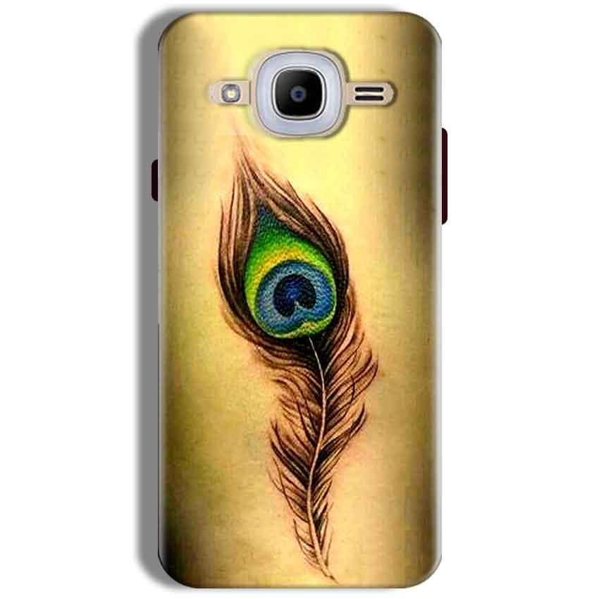 Samsung J2 2016 Mobile Covers Cases Peacock coloured art - Lowest Price - Paybydaddy.com