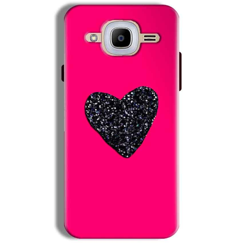 Samsung J2 2016 Mobile Covers Cases Pink Glitter Heart - Lowest Price - Paybydaddy.com