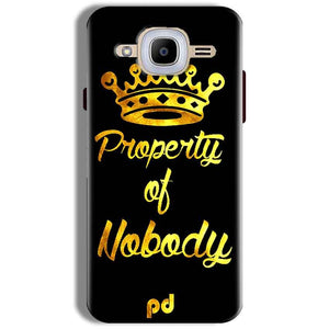 Samsung J2 2016 Mobile Covers Cases Property of nobody with Crown - Lowest Price - Paybydaddy.com