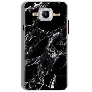 Samsung J2 2016 Mobile Covers Cases Pure Black Marble Texture - Lowest Price - Paybydaddy.com