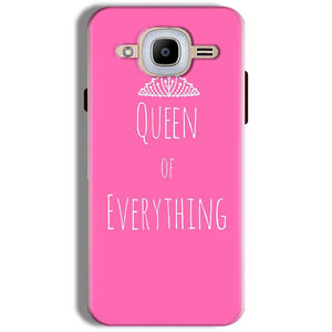 Samsung J2 2016 Mobile Covers Cases Queen Of Everything Pink White - Lowest Price - Paybydaddy.com