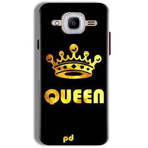 Samsung J2 2016 Mobile Covers Cases Queen With Crown in gold - Lowest Price - Paybydaddy.com
