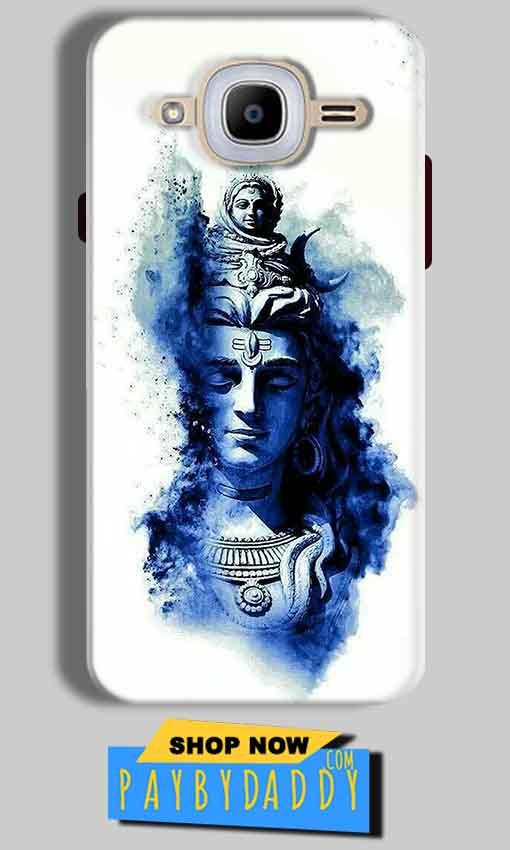 Samsung J2 2016 Mobile Covers Cases Shiva Blue White - Lowest Price - Paybydaddy.com