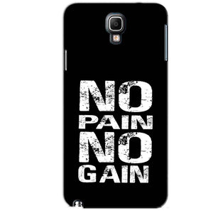 Samsung Note 3 Neo Mobile Covers Cases No Pain No Gain Black And White - Lowest Price - Paybydaddy.com