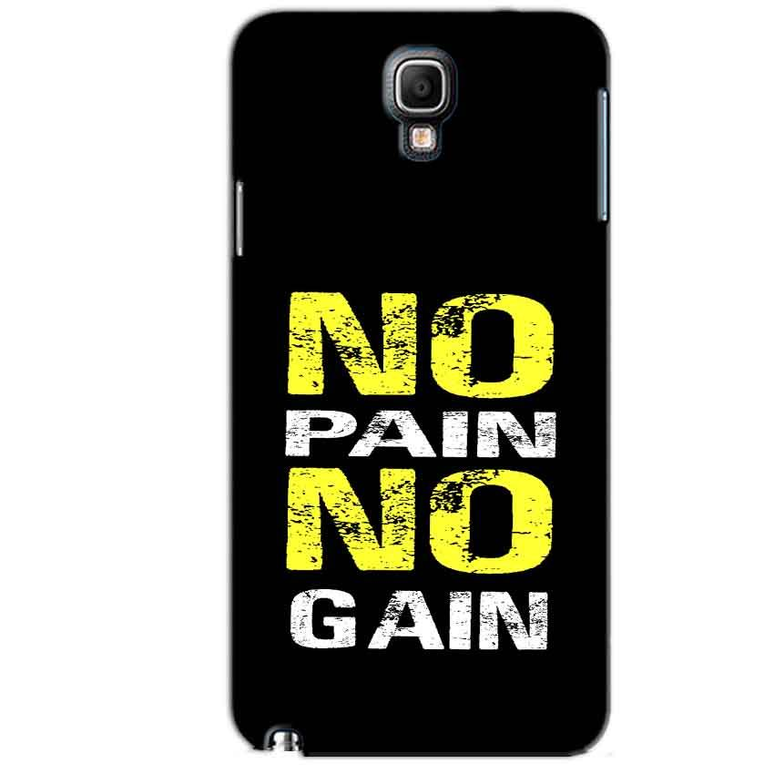 Samsung Note 3 Neo Mobile Covers Cases No Pain No Gain Yellow Black - Lowest Price - Paybydaddy.com
