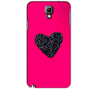 Samsung Note 3 Neo Mobile Covers Cases Pink Glitter Heart - Lowest Price - Paybydaddy.com