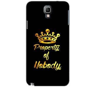 Samsung Note 3 Neo Mobile Covers Cases Property of nobody with Crown - Lowest Price - Paybydaddy.com