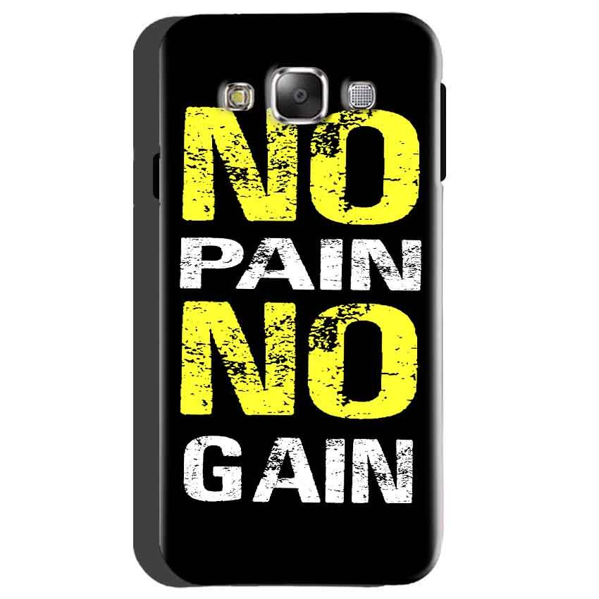 Samsung galaxy Grand 2 G7106 Mobile Covers Cases No Pain No Gain Yellow Black - Lowest Price - Paybydaddy.com
