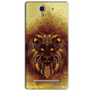 Sony Xperia C3 Mobile Covers Cases Lion face art - Lowest Price - Paybydaddy.com
