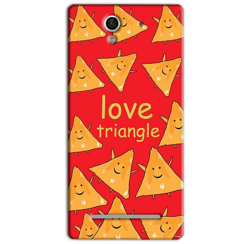 Sony Xperia C3 Mobile Covers Cases Love Triangle - Lowest Price - Paybydaddy.com