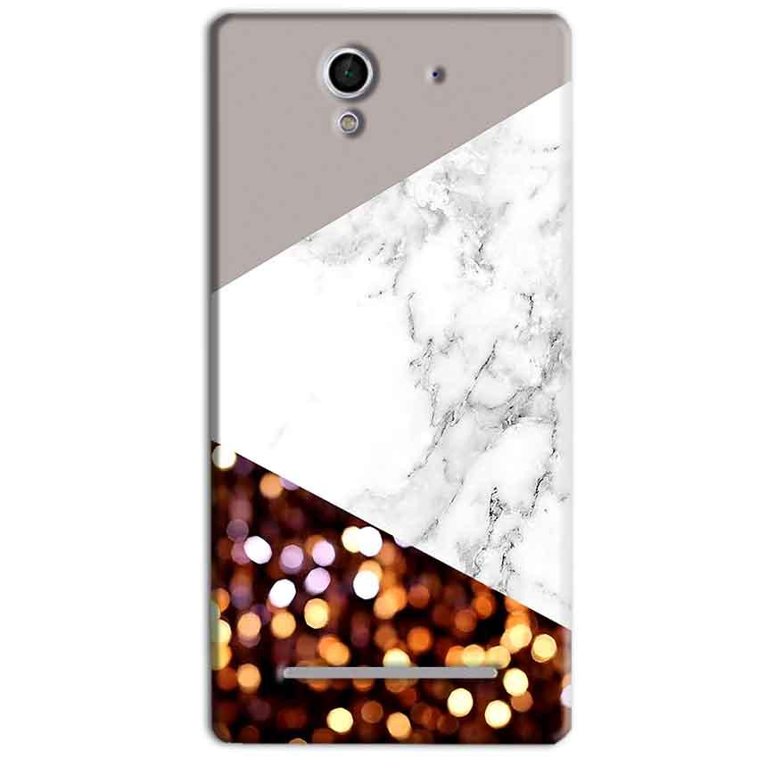 Sony Xperia C3 Mobile Covers Cases MARBEL GLITTER - Lowest Price - Paybydaddy.com