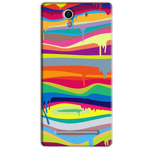 Sony Xperia C3 Mobile Covers Cases Melted colours - Lowest Price - Paybydaddy.com