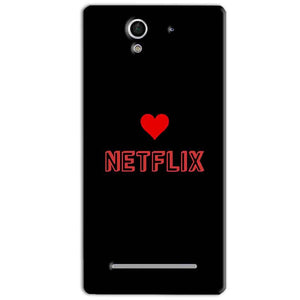 Sony Xperia C3 Mobile Covers Cases NETFLIX WITH HEART - Lowest Price - Paybydaddy.com