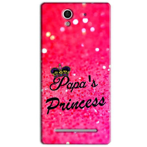Sony Xperia C3 Mobile Covers Cases PAPA PRINCESS - Lowest Price - Paybydaddy.com