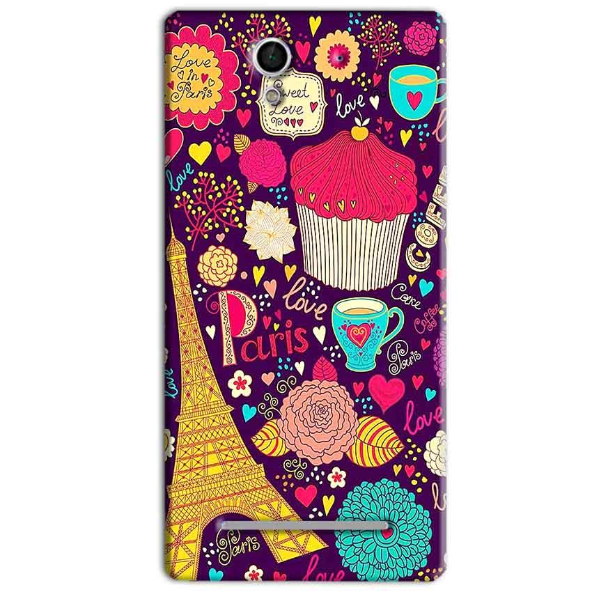 Sony Xperia C3 Mobile Covers Cases Paris Sweet love - Lowest Price - Paybydaddy.com