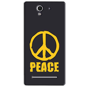 Sony Xperia C3 Mobile Covers Cases Peace Blue Yellow - Lowest Price - Paybydaddy.com