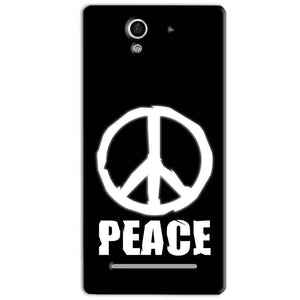 Sony Xperia C3 Mobile Covers Cases Peace Sign In White - Lowest Price - Paybydaddy.com